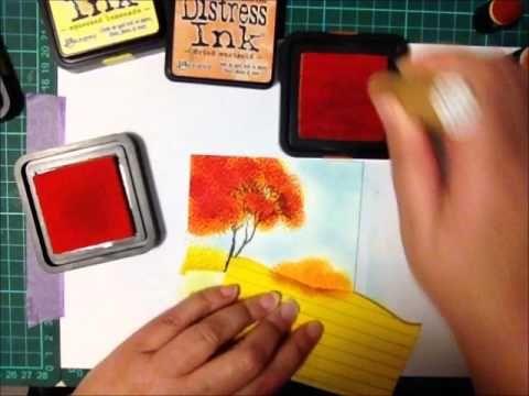 Layered Autumn Trees Tutorial - Splitcoaststampers