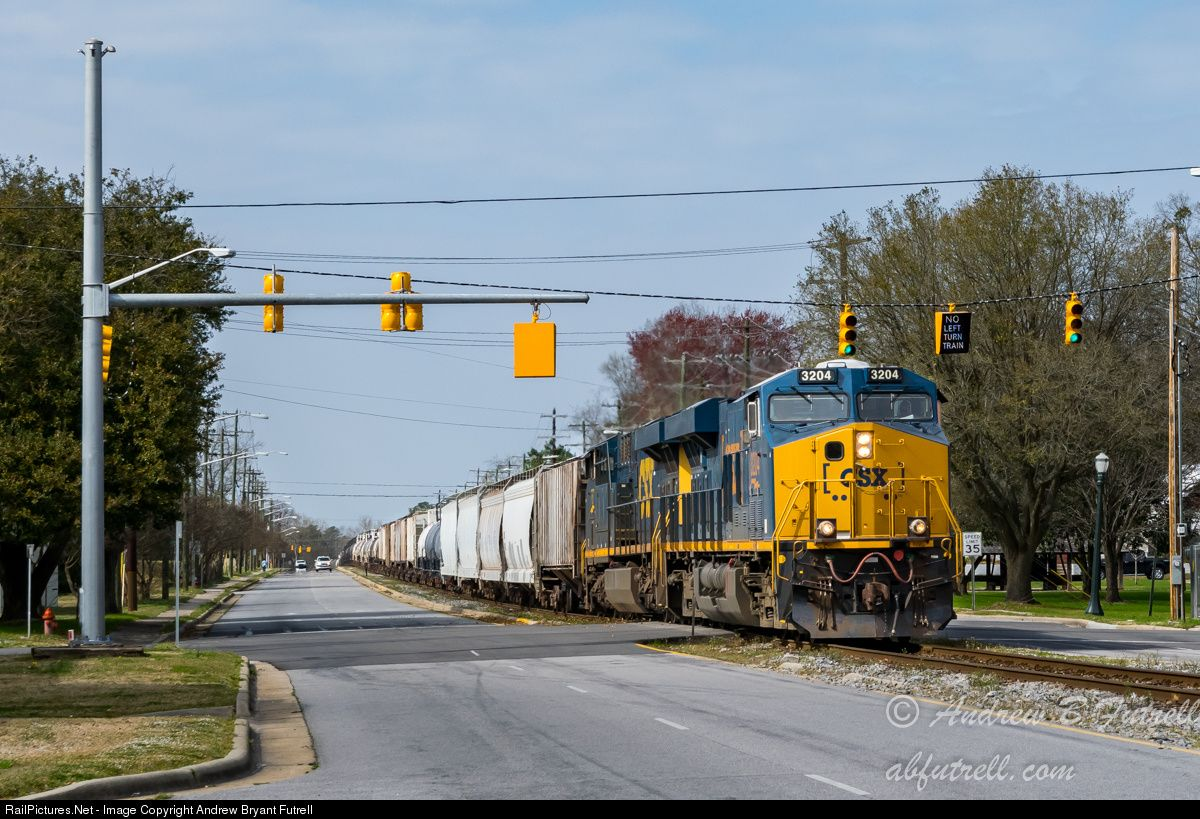 RailPictures.Net Photo: CSX 3204 CSX Transportation (CSXT) GE ES44AC at Tarboro, North Carolina by Andrew Bryant Futrell