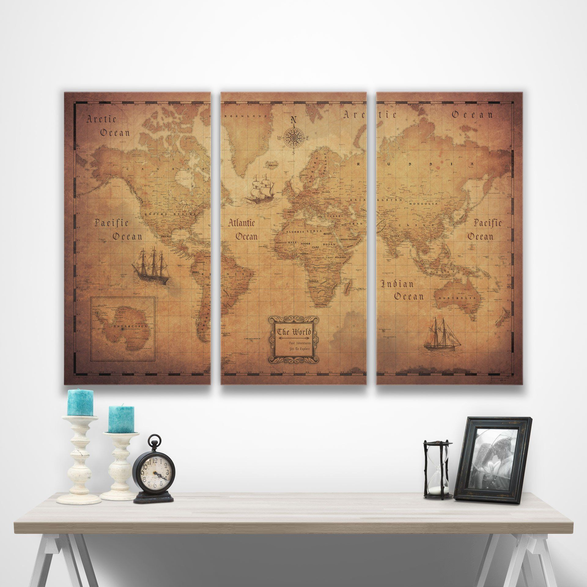 World travel map pin board wpush pins golden aged pin boards world travel map pin board wpush pins golden aged gumiabroncs Choice Image