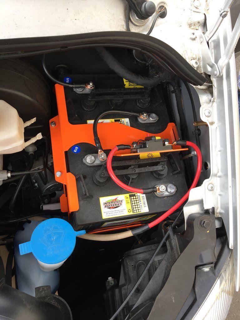 Battery Tray W Wiring Bundle Van Bed Minivan Camper Conversion Van Interior