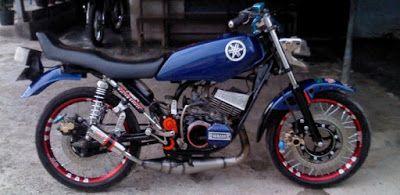Fotogambar Modifikasi Motor Rx King Warna Hitam