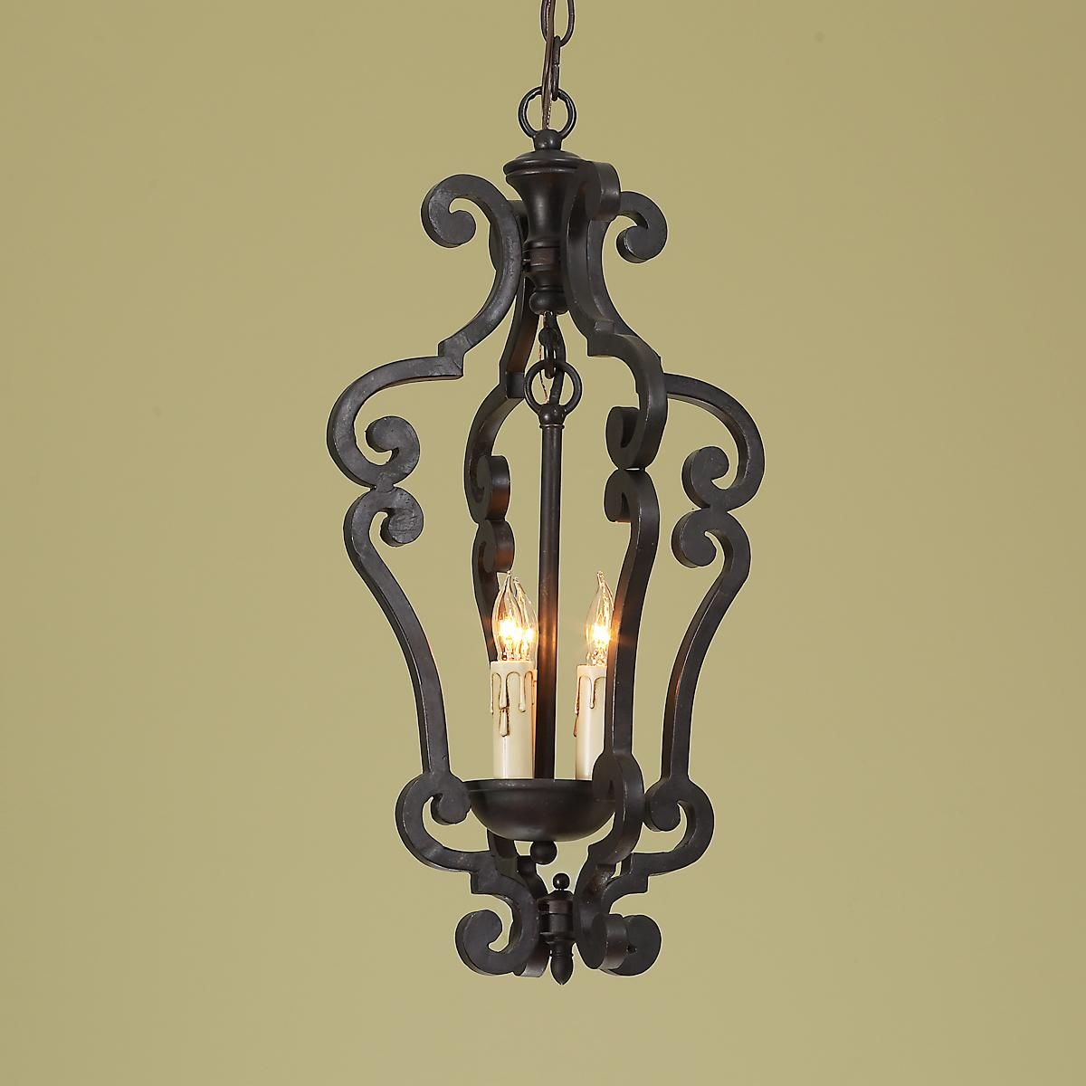 Black Wrought Iron Kitchen Light Fixtures Black Iron Scroll Lantern Small Fox Borough Hill Lighting