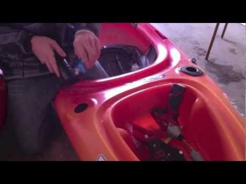 How to install flush mount rod holders on a kayak Sit on Top and