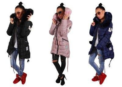 Zimowa Damska Pikowana Dluga Kurtka Kolor 1860 R M 6585045923 Oficjalne Archiwum Allegro Winter Jackets Jackets Fashion