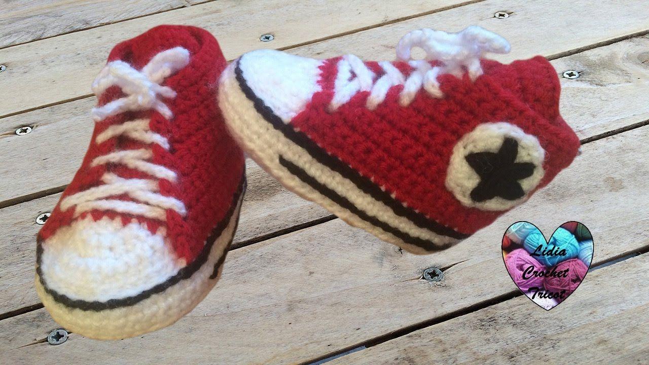 tuto en FR : Converse chaussures bébé crochet 12 Converse