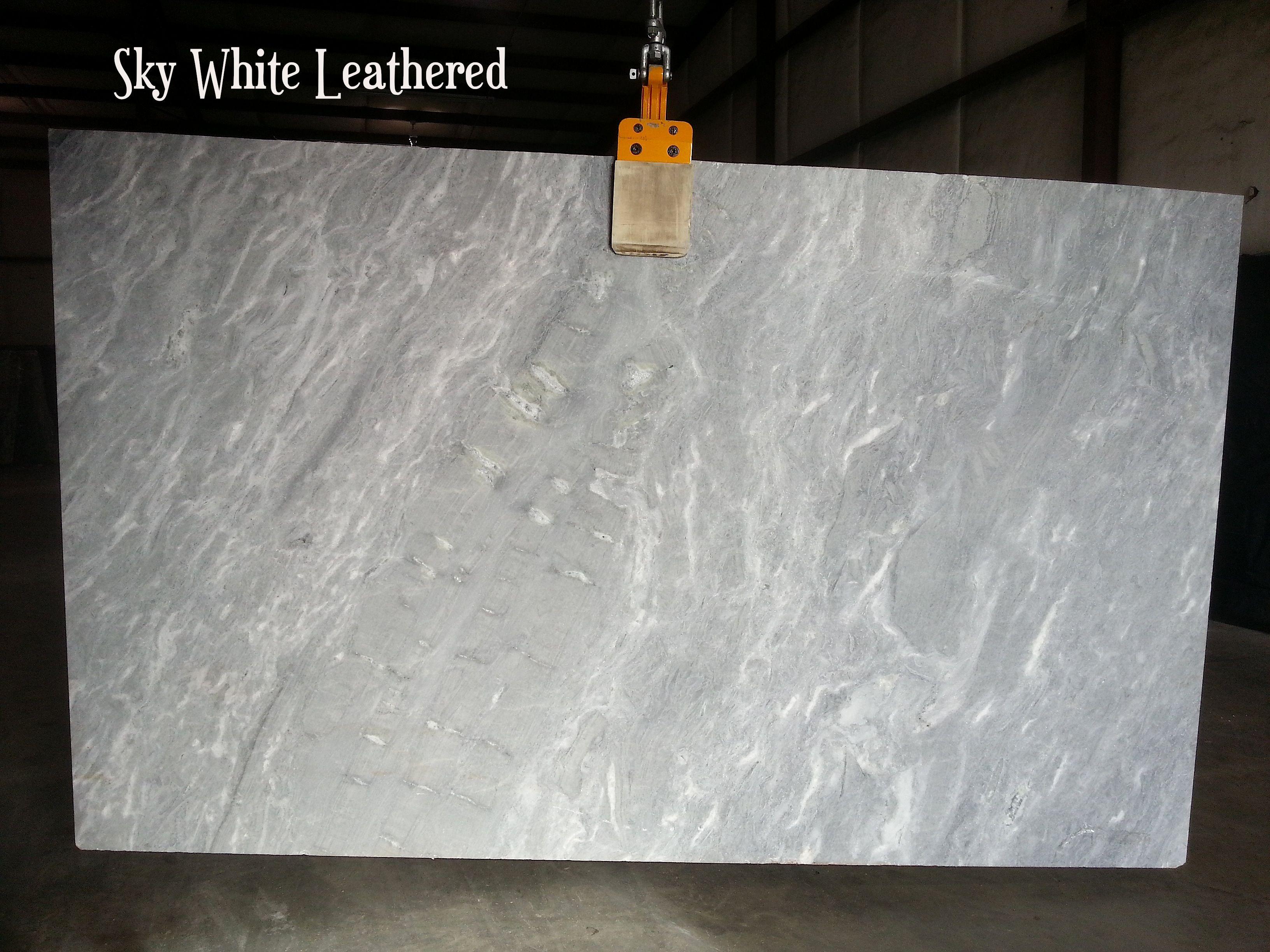 Sky White Quartzite With A Leathered Finish White Quartzite Stone Slab Design