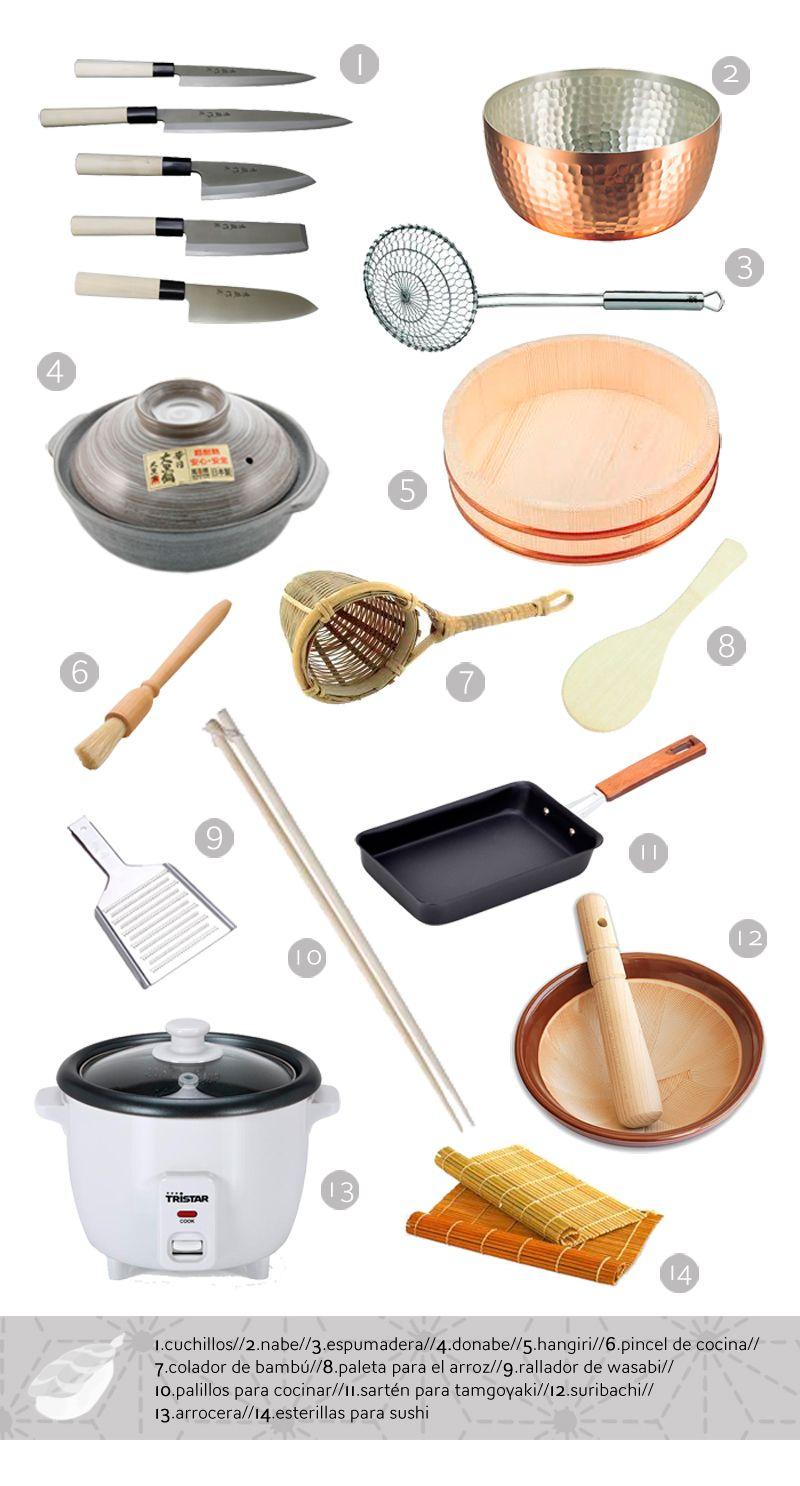 utensilios b sicos en la cocina japonesa comida japonesa