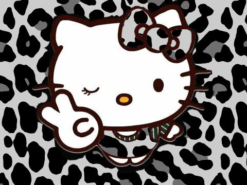 Hello Kitty Butterfly Coloring Pages : Zebra hello kitty print and hello kitty so i thought
