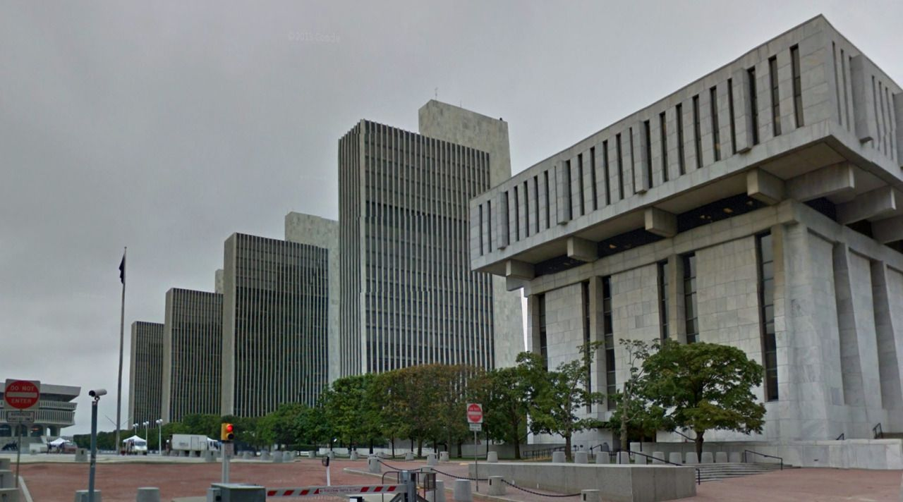 Empire State Plaza - 1965-76 by Wallace K. Harrison - #architecture #googlestreetview #googlemaps #googlestreet #usa #albany #brutalism #modernism