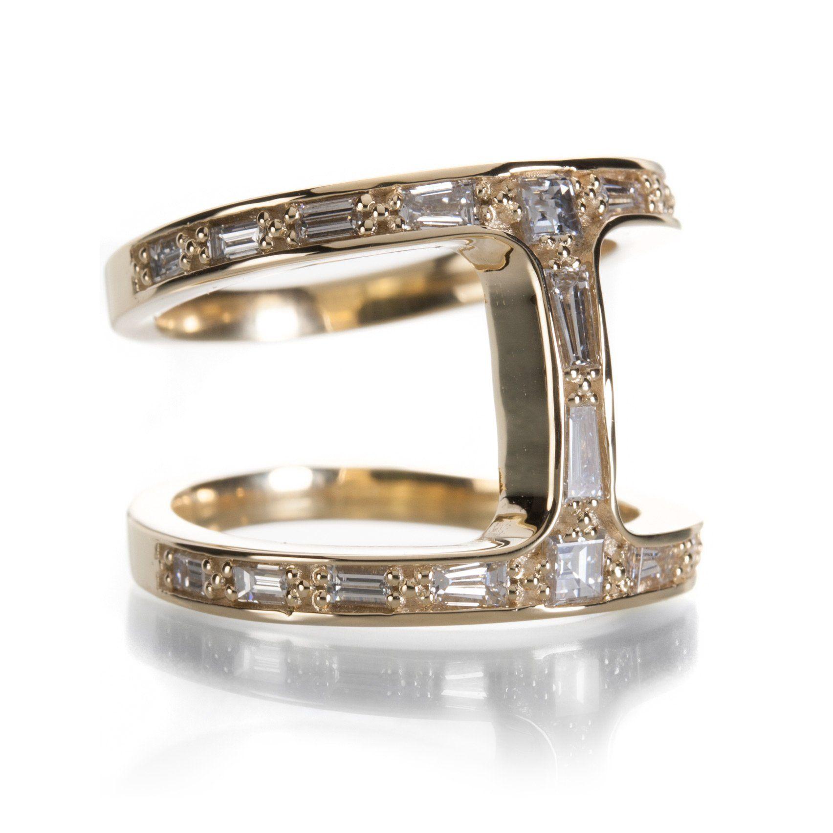 5717c01b Yellow Gold Dame Phantom Diamond Ring | Products | Pinterest | Rings ...