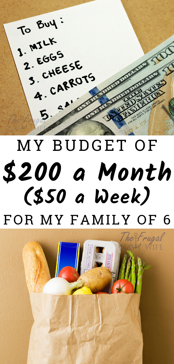 How I Feed My Family of 6 on 200 a Month WOW 50 a week on groceries for 6 people I picked up so many tips for Feeding a Family on a Budget I will be using this week