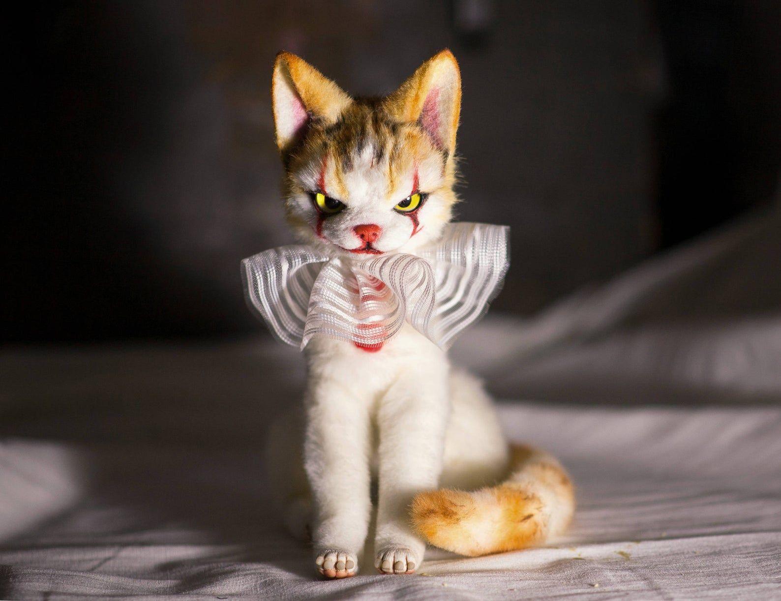Kitten Etsy In 2020 Kitten Scary Cat Cute Little Animals