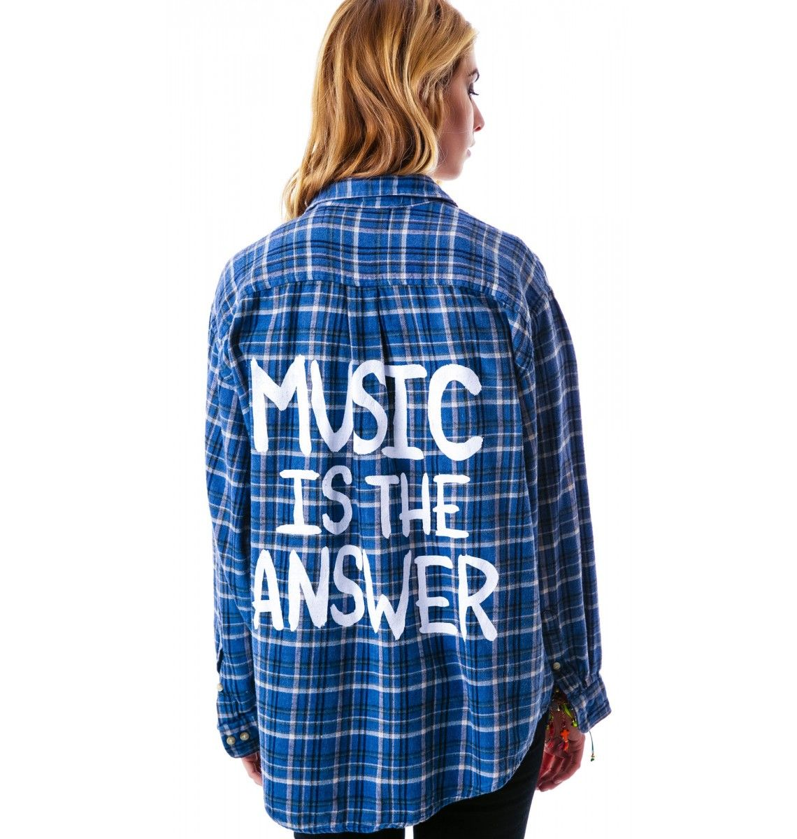 Flannel shirt with shorts men  Music is the Answer Flannel Shirt  Flannel shirts Flannels and