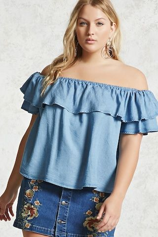 43d7bfc65c9 Plus Size Off-the-Shoulder Top