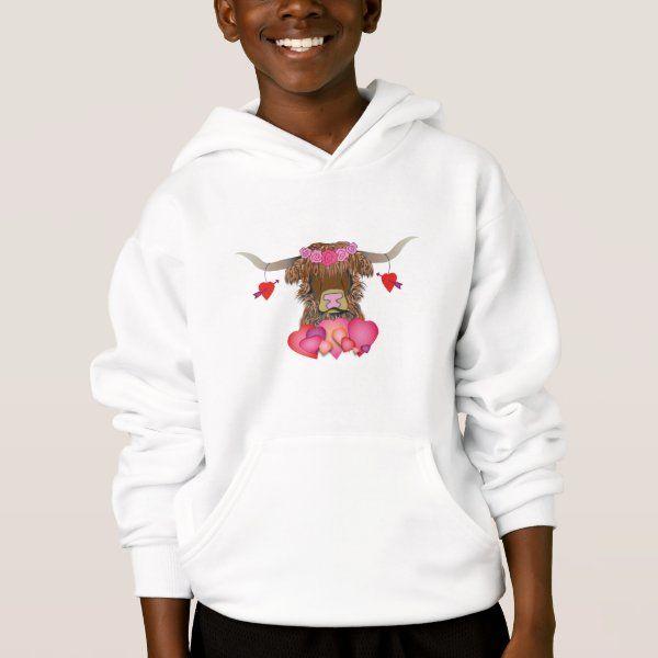 Happy Valentines Day Cow Hoodie