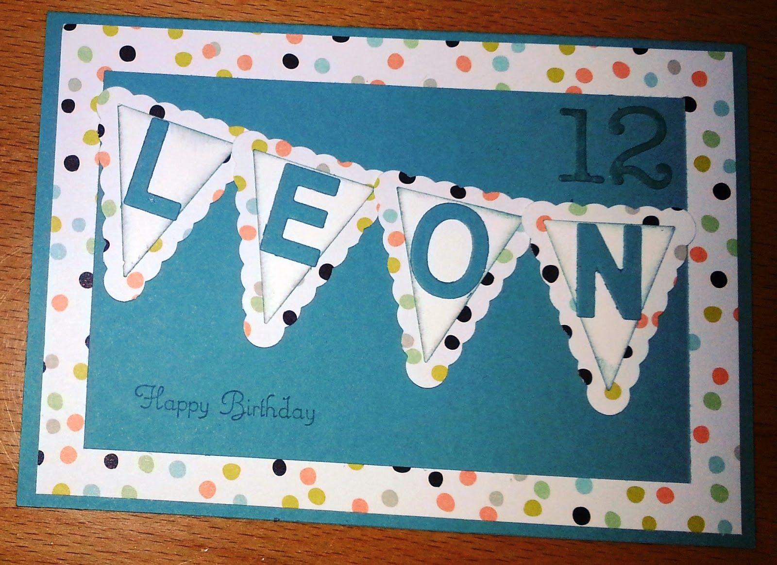 Tanja´s Stempel Zauberland: Geburtstagskarte Papier/Farbe: Mattblau ...