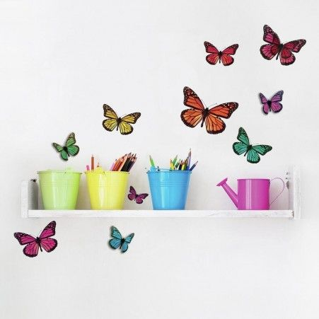 & 3D Butterflies Wall Decals