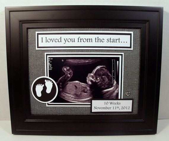 Baby Ultrasound Sonogram Frame Iwe Loved You From The Start