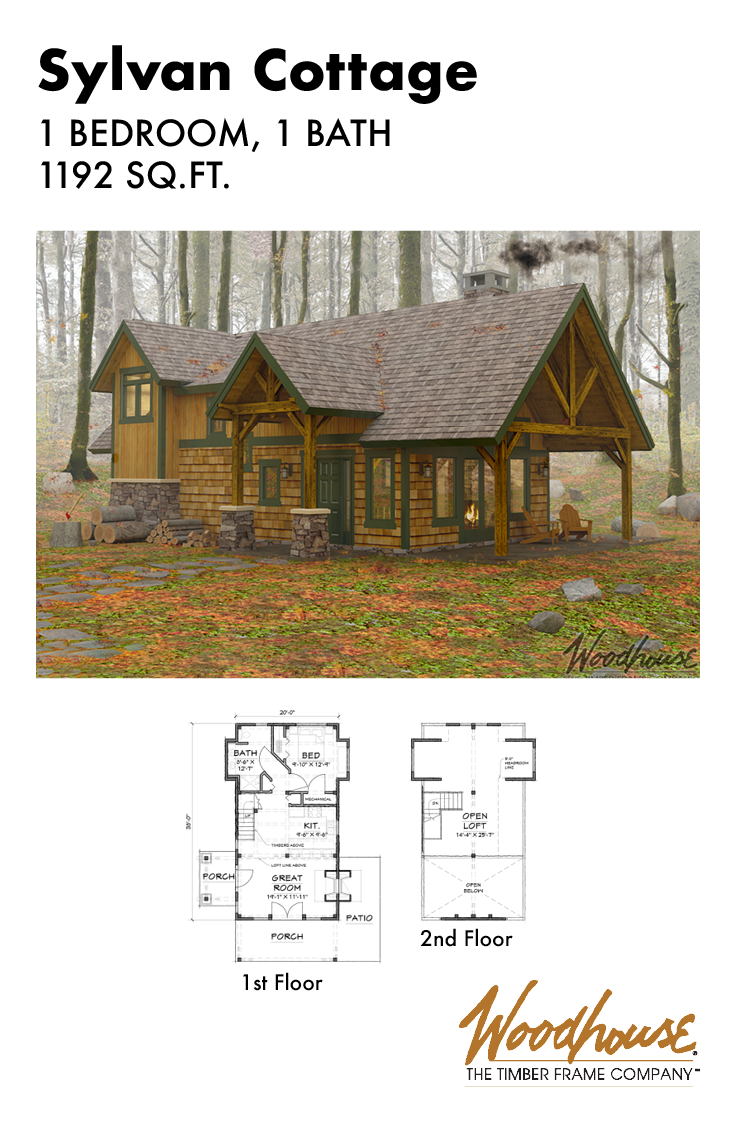 This 1192 Sq Ft Colonial Cottage House Plan Will Fit Nicely In Your Favorite Landscape Or Forest Timber Frame Home Plans Colonial Cottage Cottage House Plans