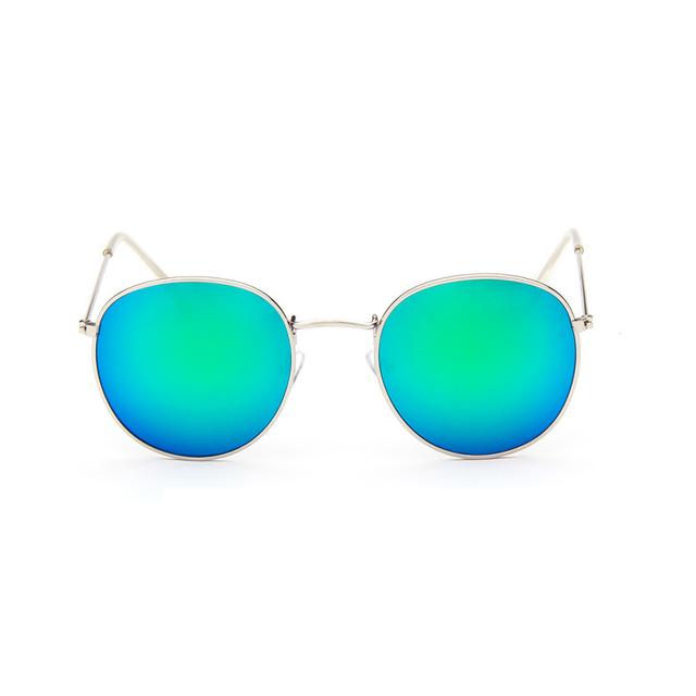 d89c6ddfc5545 retro round sunglasses women men brand designer sun glasses for women Alloy mirror  sunglasses ray female oculos de sol