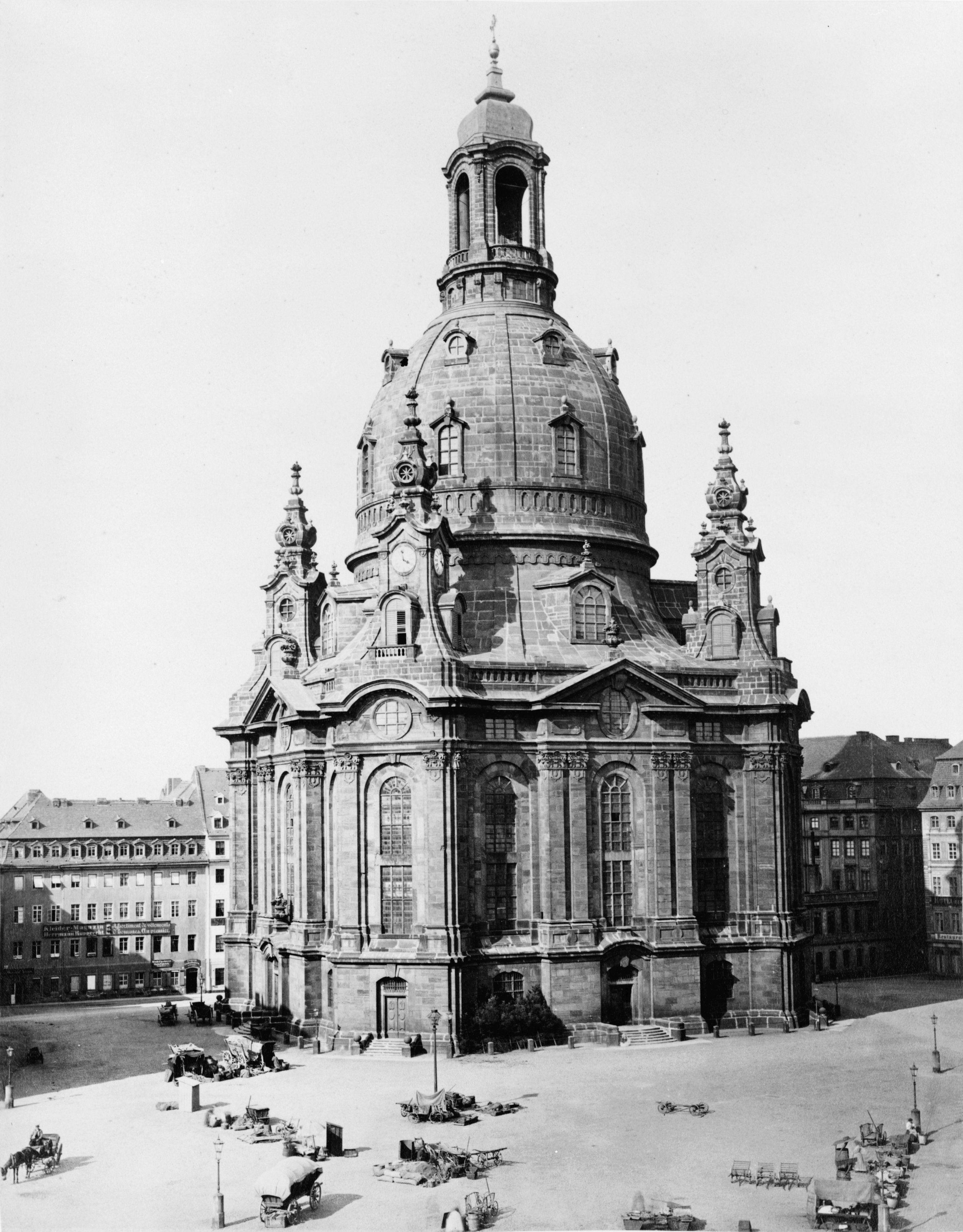 Original Frauenkirche Dresden In 1880 German Architecture Dresden Germany Dresden Frauenkirche
