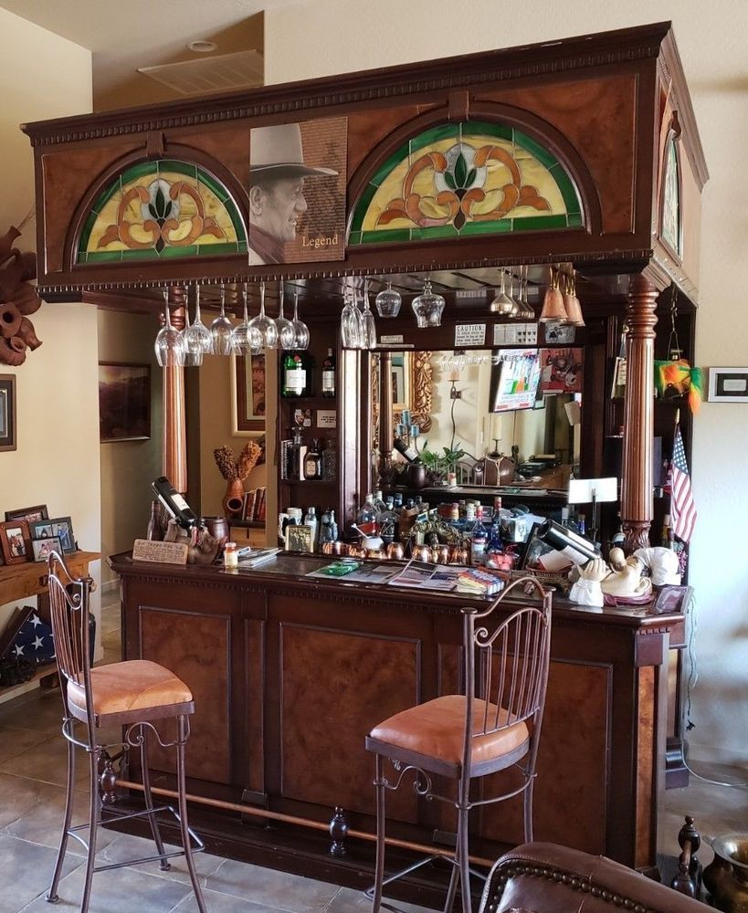 Miraculous Vintage Home Bar With Mahogany Wood Canopy Style Four Download Free Architecture Designs Embacsunscenecom