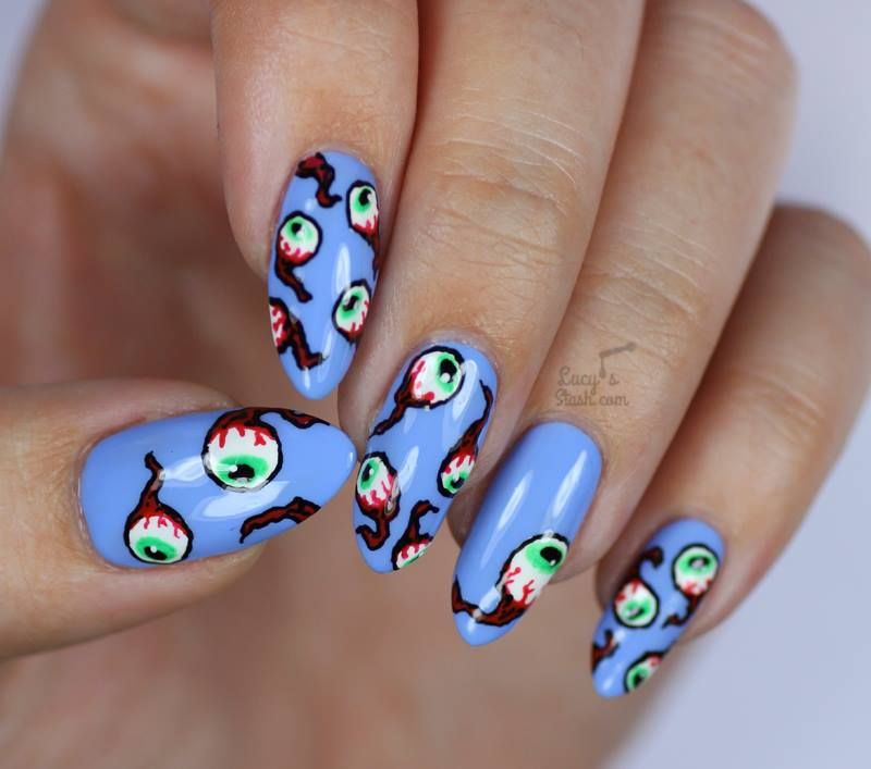 72 Distinctive Halloween Inspired Nail Art Ideas To Complement ...