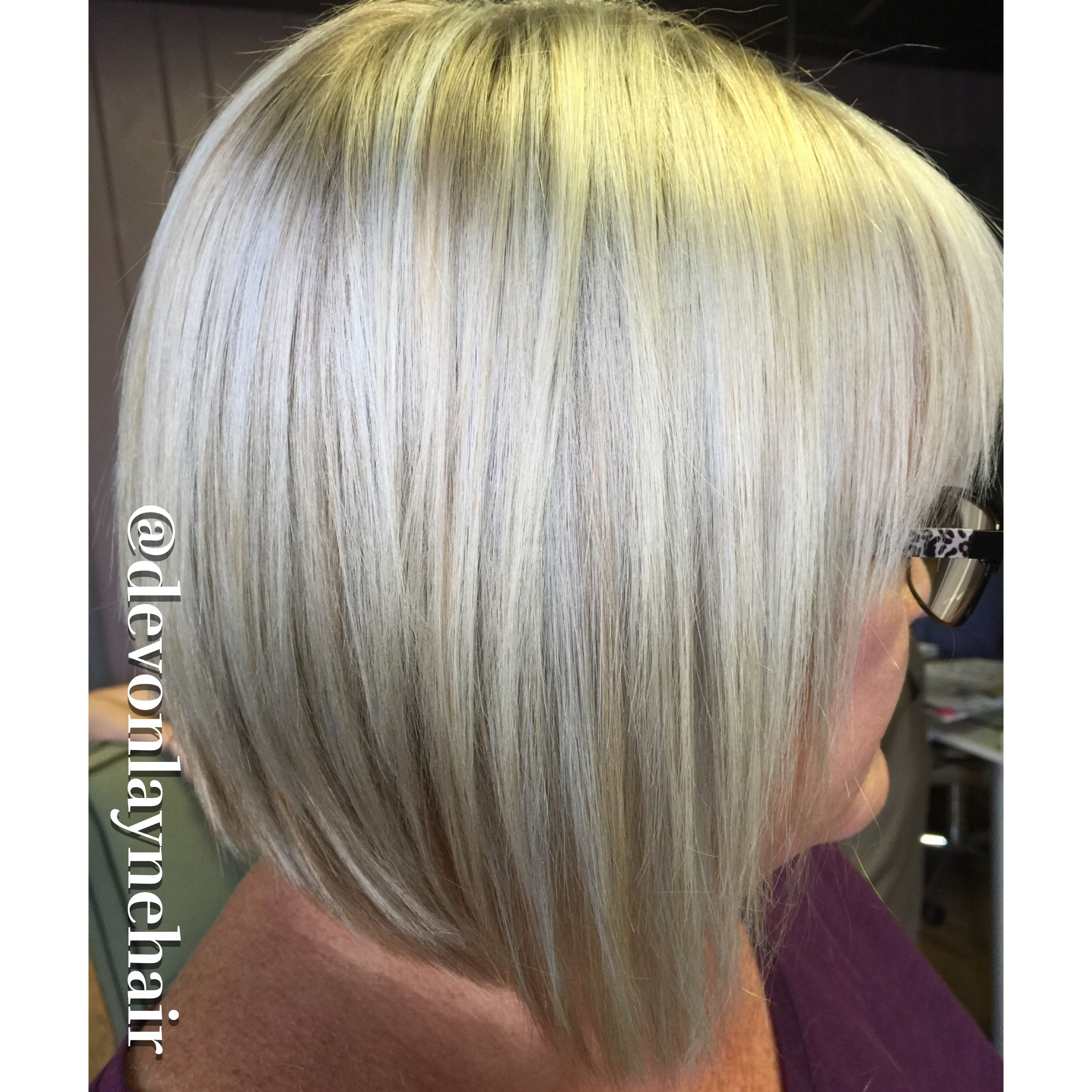 Icy blonde hair with Kevin Murphy Color.Me line