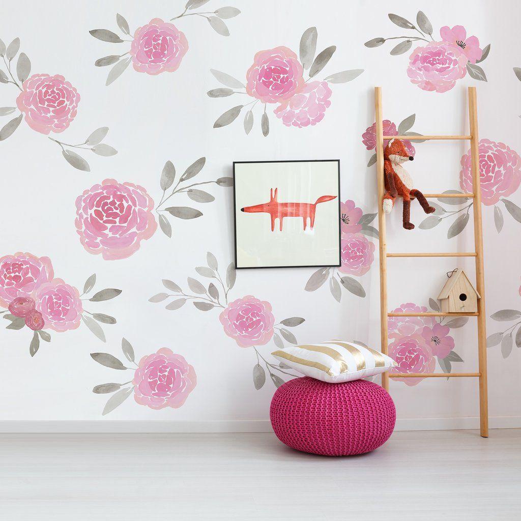 La Maison Wall Mural Floral Komar Decal Wall Decor Decals Wall Murals Mural