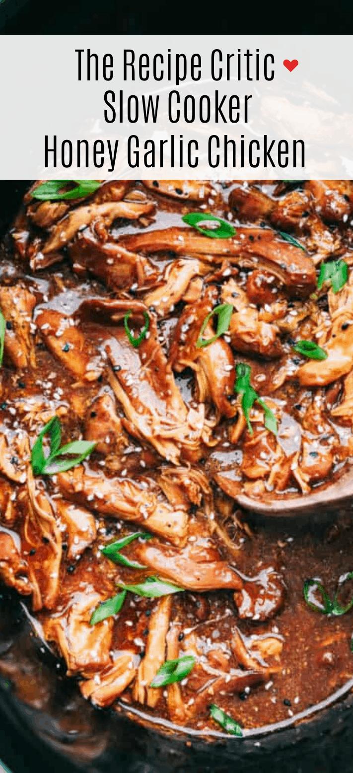 Slow Cooker Honey Garlic Chicken Recipe | The Recipe Critic