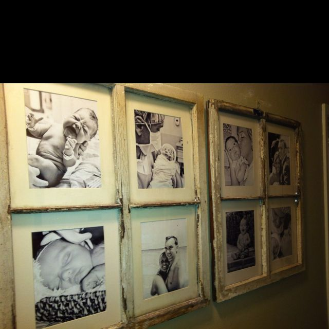 Old windows I turned into frames | d.i.y. projects | Pinterest