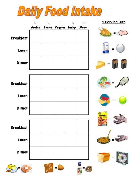 free printable food charts - Google Search Gesundheit - food charts