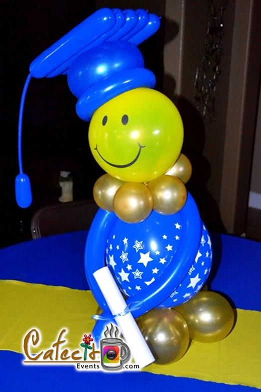 Graduation decor gr du tion pinterest decor for Balloon decoration ideas for graduation