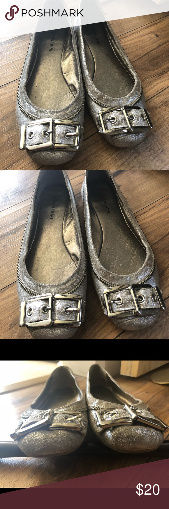 "ae86f41d1a0 Gianni bini flats These are made to look a little ""worn"". Only worn ..."