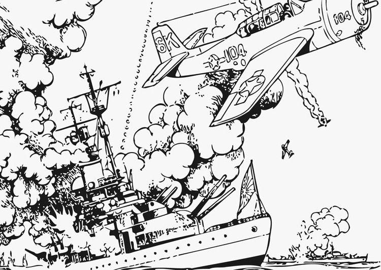 Coloring Page War At Sea Img 12759 Hello Kitty Colouring Pages Coloring Pages Mermaid Coloring Pages