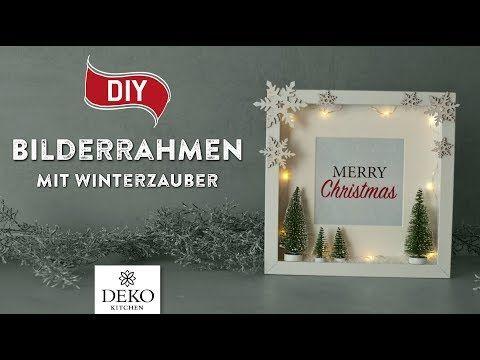 Diy Susse Weihnachtsdeko Im Bilderrahmen How To Deko Kitchen