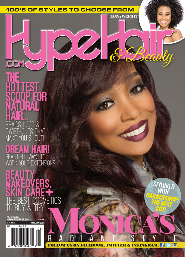Monica Brown Shines On Cover Of \'Hype Hair\' April/May 2016 ...