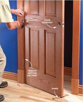 Fix sagging or sticking doors craftsman remodel pinterest projet for How to fix a sagging exterior door