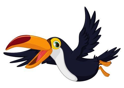 Cartoon Toucan Bird Vector 04 Cartoon Birds Toucan Illustration Parrot Flying