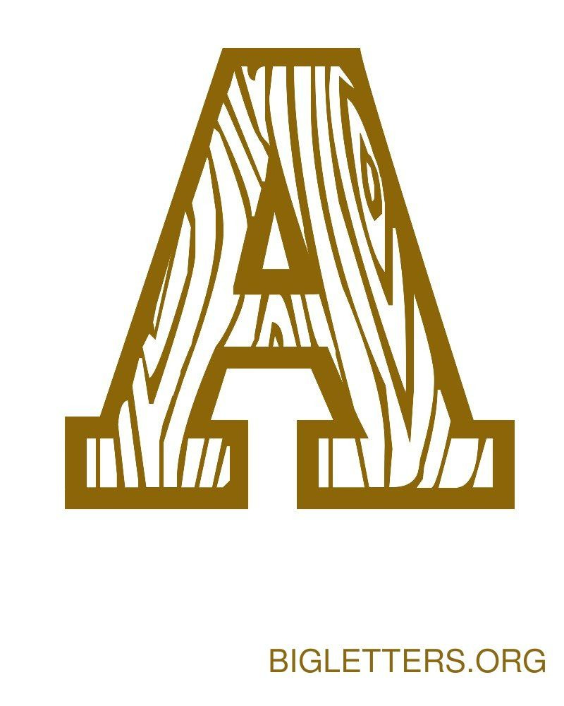 Big Decorative Wood Letter A | Crafts | Pinterest | Big, Letter ...