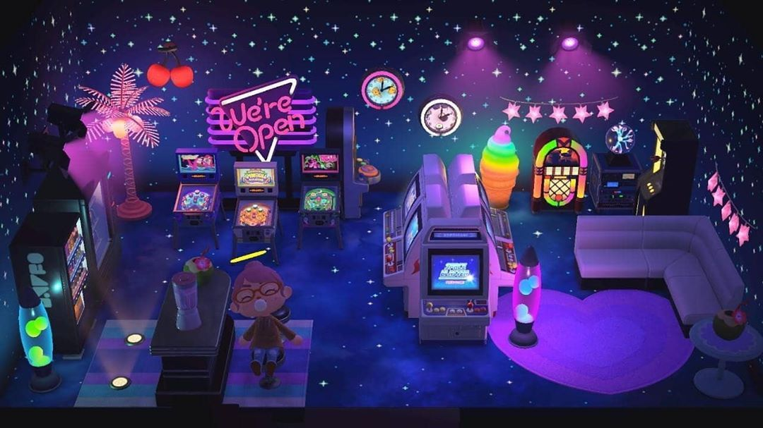 Kristian Kenneth Acnh Designs On Instagram This Is The Best Basement Arcade I Have Ever Seen Animal Crossing Animal Crossing Villagers New Animal Crossing