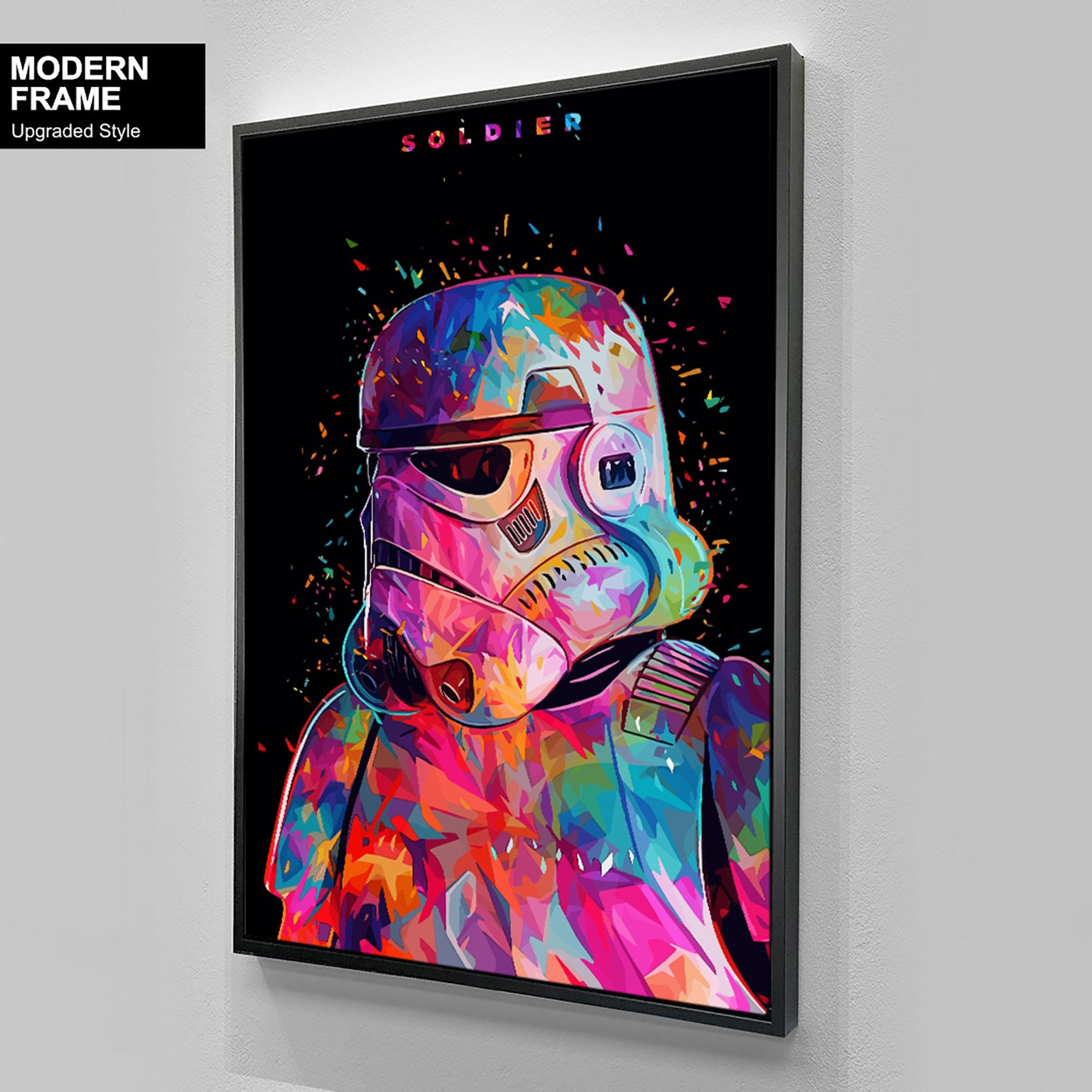 Soldier Minimalist Art Star Wars Darth Vader Stormtrooper Print Poster Decoration Pictures Wall Art Decor In 2020 Boba Fett Wall Art Movie Wall Art Minimalist Art