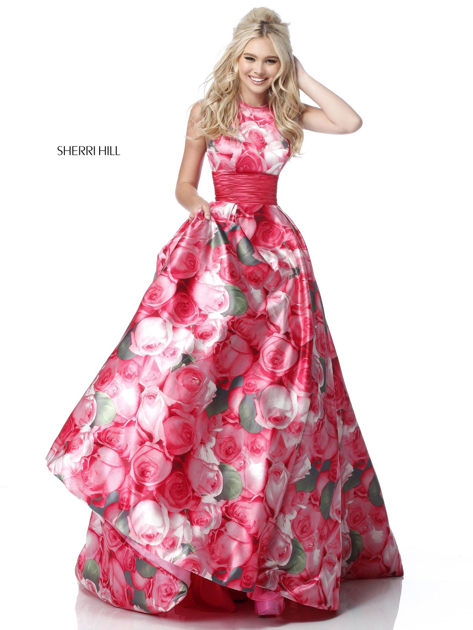 Long Pink Floral Prom Dress | Dresses | Pinterest