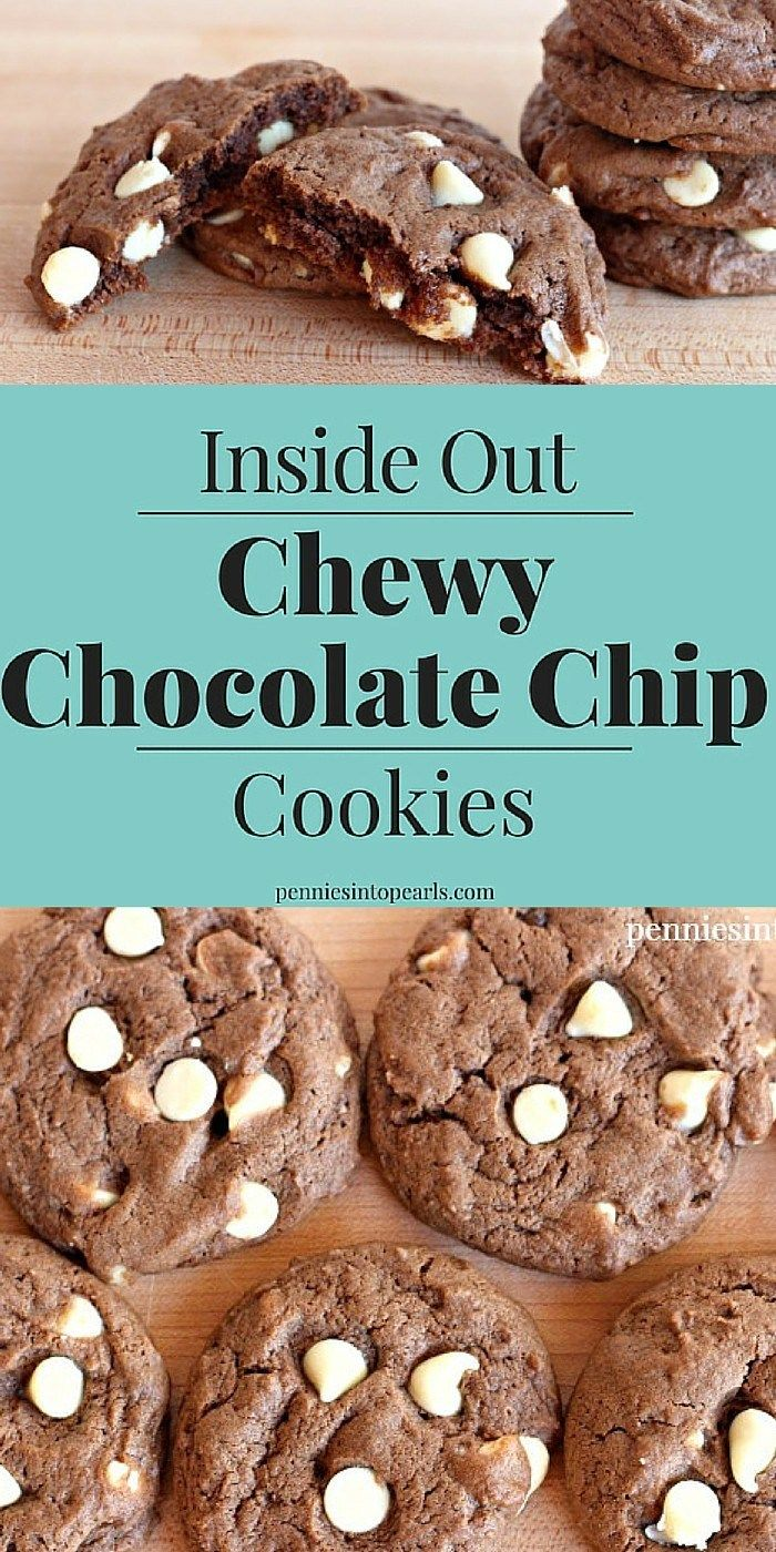 Inside Out Chewy Chocolate Chip Cookies