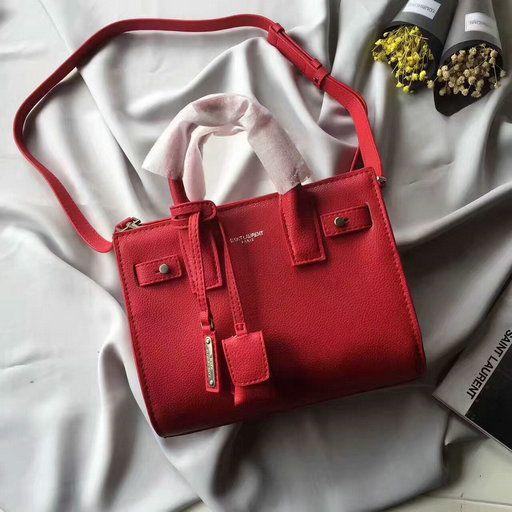 159117a671 Saint Laurent Nano Sac De Jour in Red Grain Leather | YSL Bags,Shoes ...