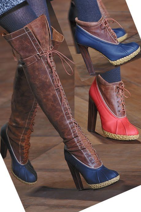 7b5603b7d7b3 tommy hilfiger duck boots... loving the tall ones for fall... Minus the  heel part tho!