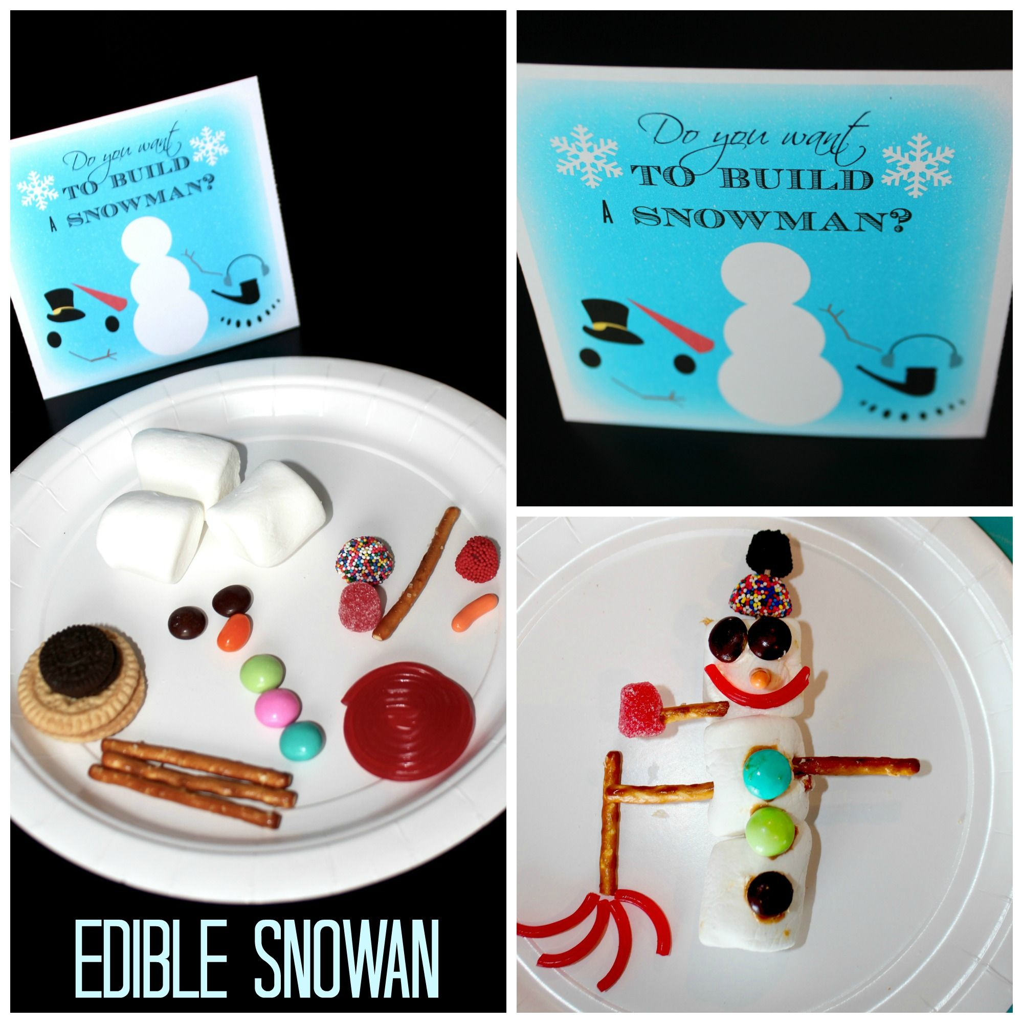Do You Want To Build A Snowman Edible Craft