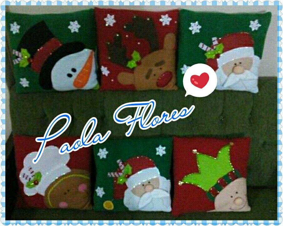 Cojines navideños #esmitrabajo