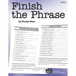 FINISH THE PHRASE | Elderly activities | Alzheimers activities