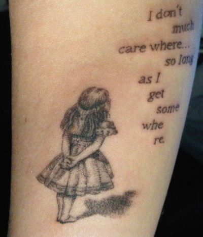 This is the tattoo I want, but just Alice and very tiny and on the side of my foot